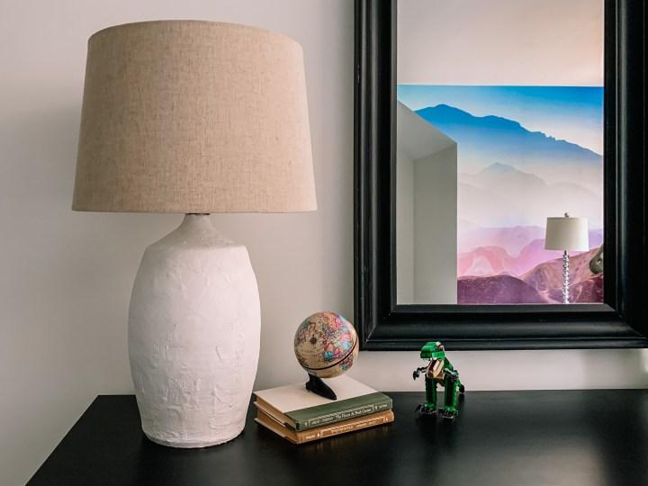 DIY plaster lamp base project