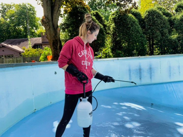 Acid wash your pool to remove dirt and grime | Building Bluebird