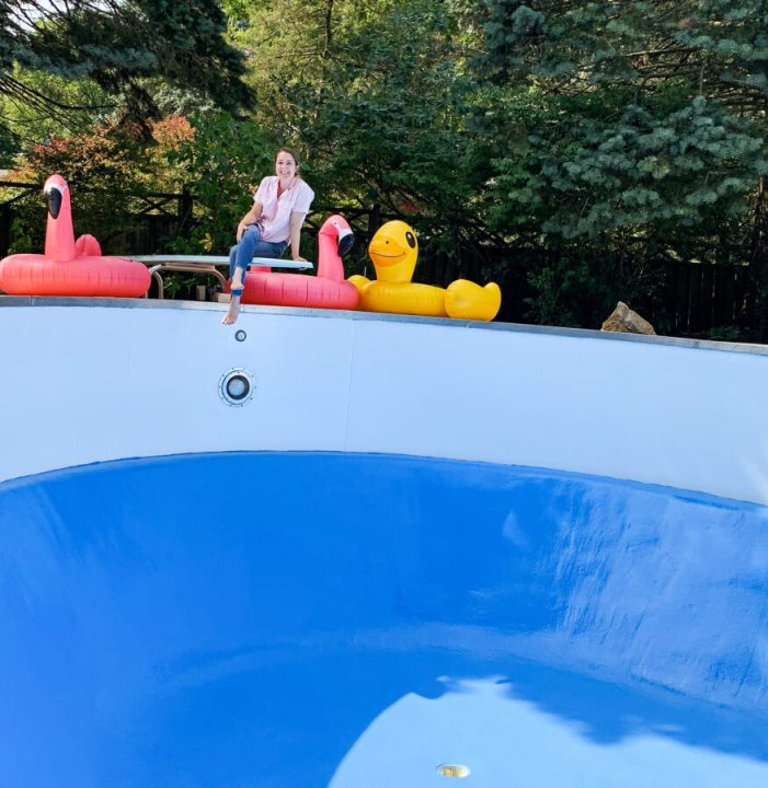 How to paint a pool and save money | Building Bluebird #tutorial #poolowner #diy #homerenovation