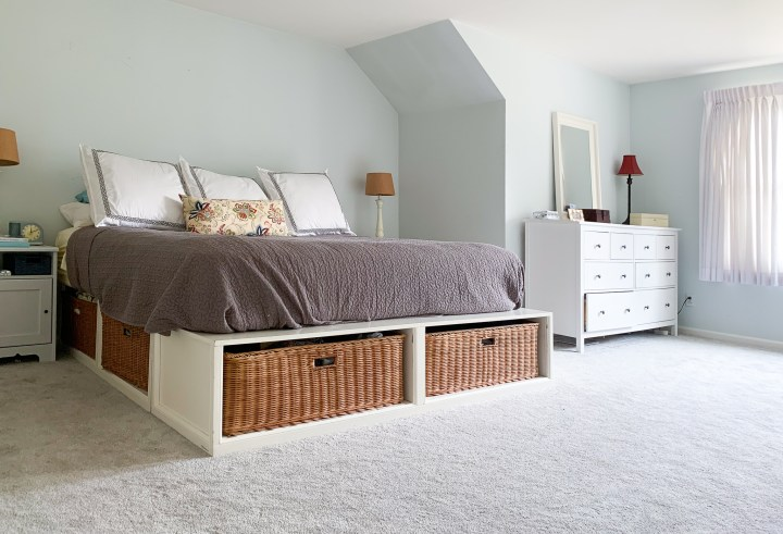 Master bedroom before the moody makeover | Building Bluebird #orc