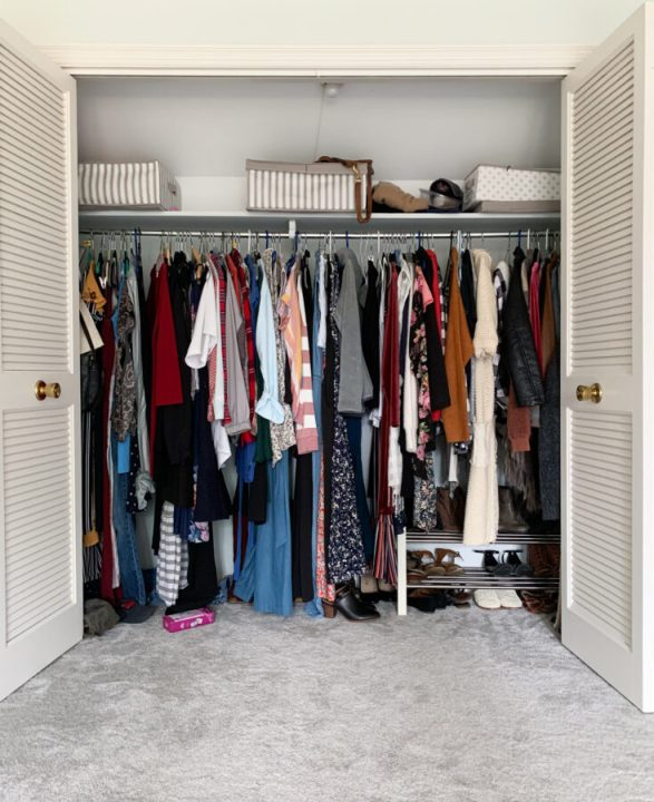 Installing a Closetmaid closet organization system in our master bedroom | Building Bluebird #bhgorc #orc #homeedit #diy