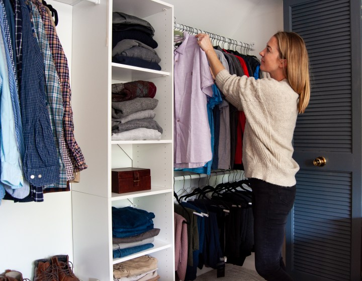 Master bedroom closet organization installation | Building Bluebird #orc #bhgorc #homeedit #mariekondo #closetmaid