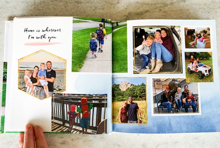 Tips for creating a custom family yearbook using Shutterfly | Building Bluebird #diy #christmasgift #yearbook