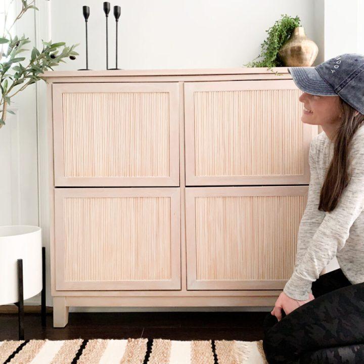 Best Ikea Hacks - Fluting detail on the Hemnes shoe cabinet | Building Bluebird #ikeahack