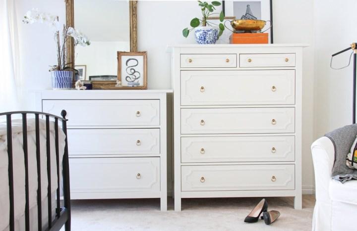 Best Ikea Hacks - Hemnes dresser Ikea hack with o'verlay detailing | Building Bluebird