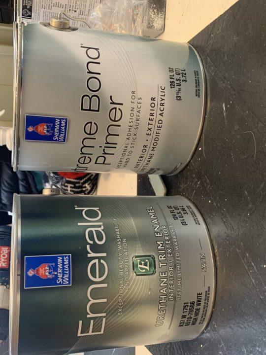 Extreme bonding primer & acrylic trim paint to cover oil based paint | Building Bluebird
