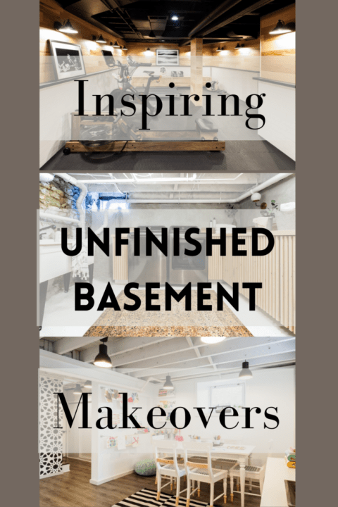 7 inspiring unfinished basement makeovers to see before starting your own basement project | Building Bluebird #exposedceiling #paintedceiling #paintedfloor
