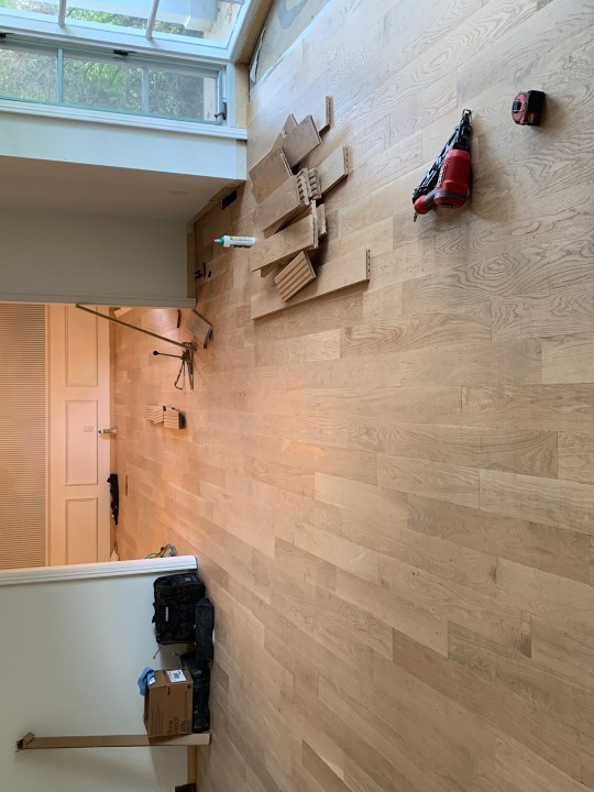 Installing new floors and painting the living room for a fresh new look | Building Bluebird #orc #bhgorc #livingroommakeover