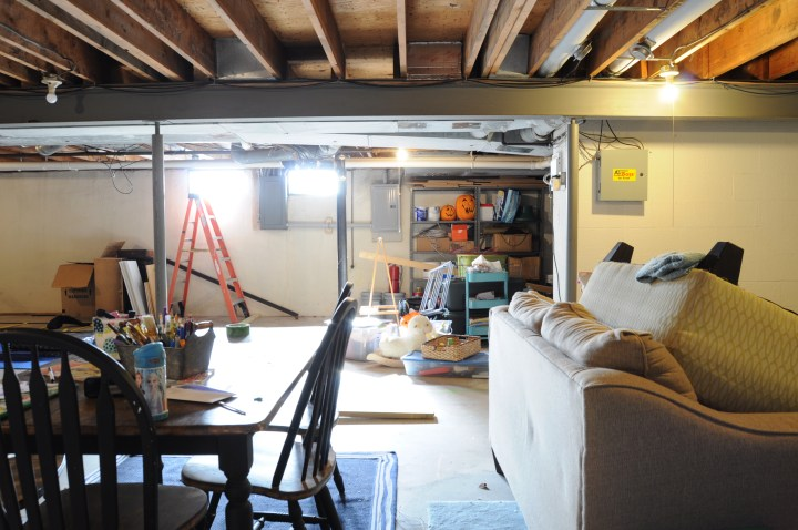 Easy and affordable ideas to turn your unfinished basement into a welcoming living space | Building Bluebird