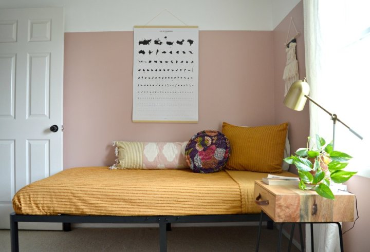 The best neutral pink paint colors to try at home - Castilian Pink via Style Mutt Home   Building Bluebird #dustypink #muddypink