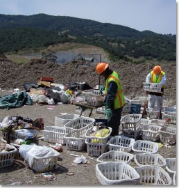 Workers Sorting Waste on Site - CalGreen