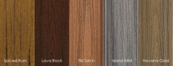 Trex Transcend Premium Tropicals Decking Colors Building