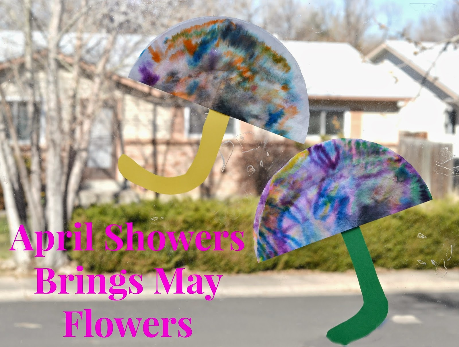 April Showers Brings May Flowers Coffee Filter Craft