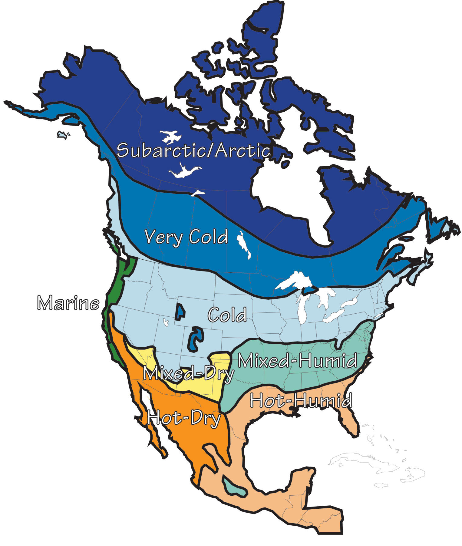 Subarctic Map Of Canada