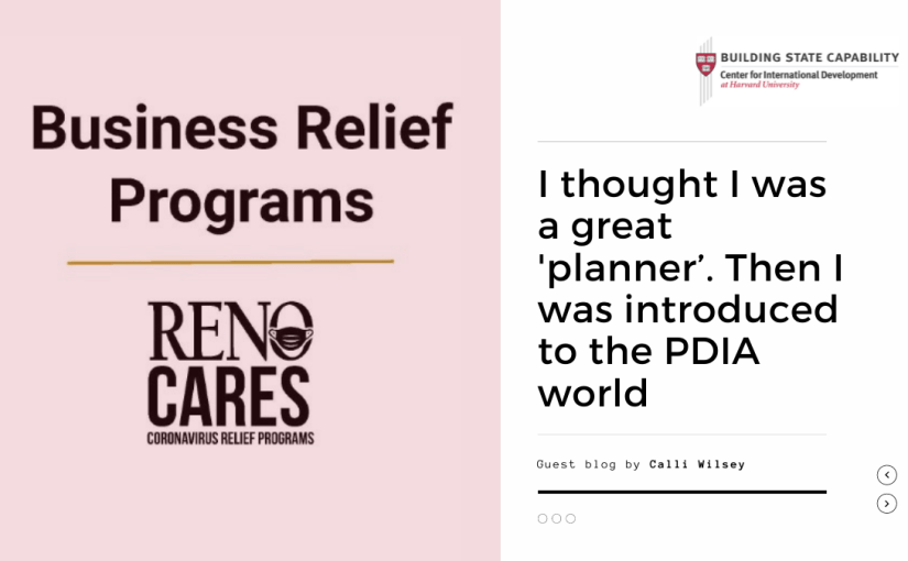 Rolling out COVID relief programs in Reno using the PDIA approach