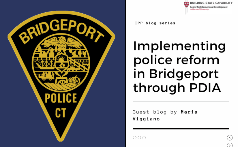 Police reform in Bridgeport through PDIA: A radical approach to an old problem