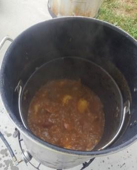 Low Country Boil in Progress