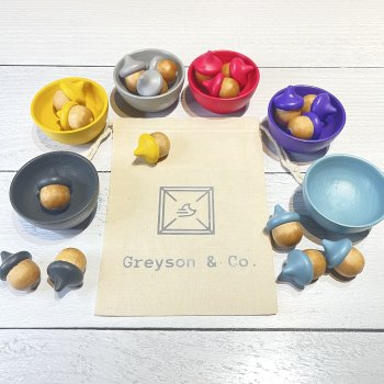 Sorting Cups with Acorns - Greyson & Company