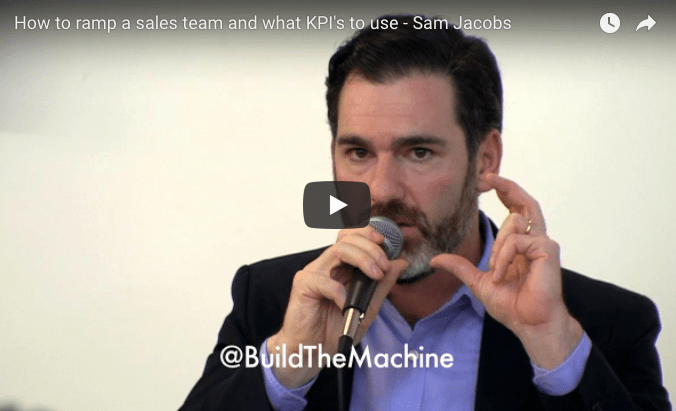 How to ramp a sales team and what KPI's to use - Sam Jacobs