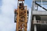 Alta Roosevelt lowers the crane 9
