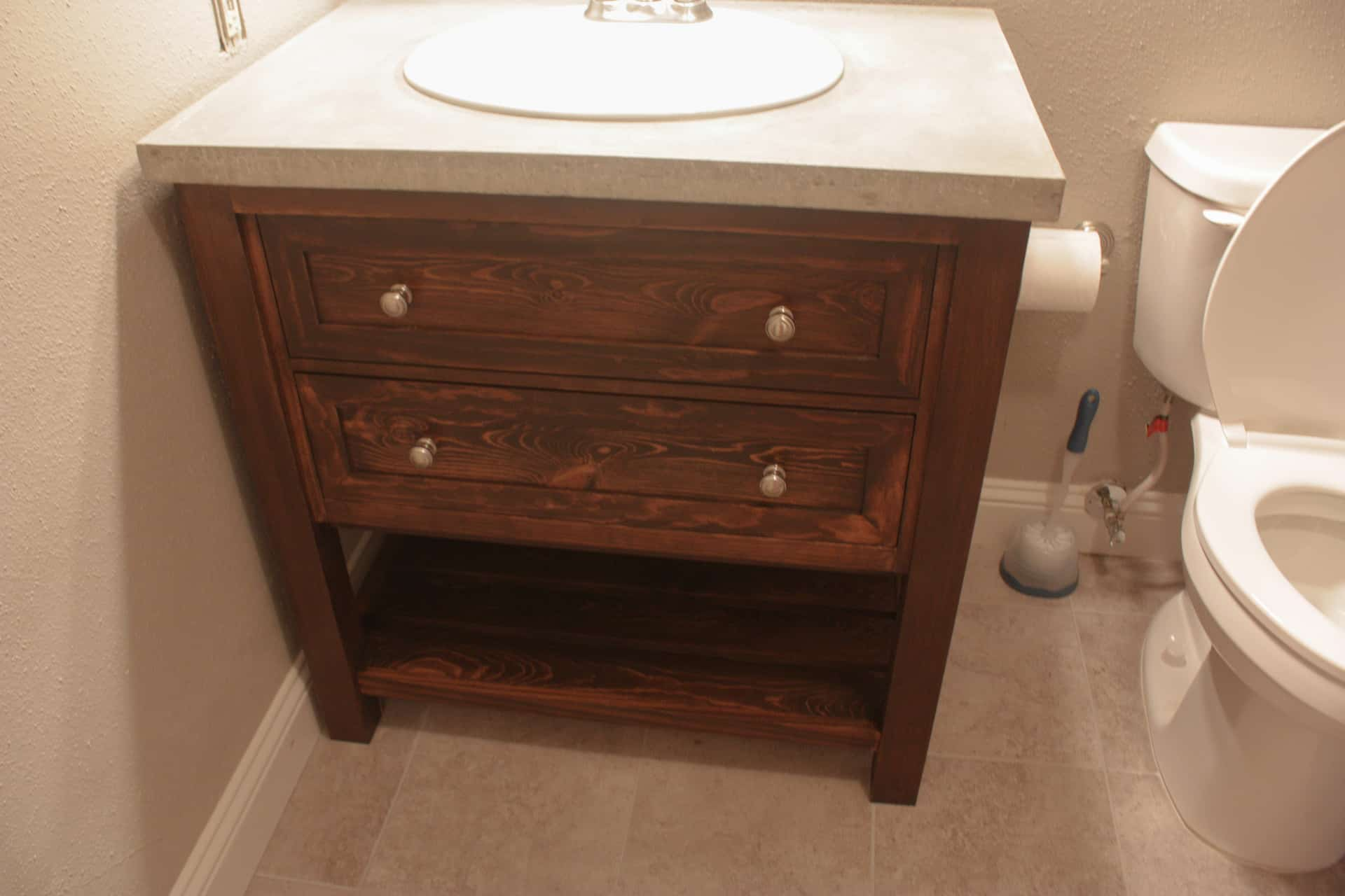 Diy Knockoff Pottery Barn Classic Single Sink Vanity