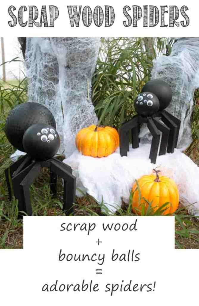 Pinterest Scrap Wood Spiders