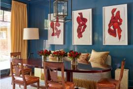 Garrow Kedigian blue dining room