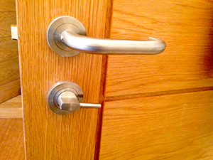 bathroom door handle and lock small