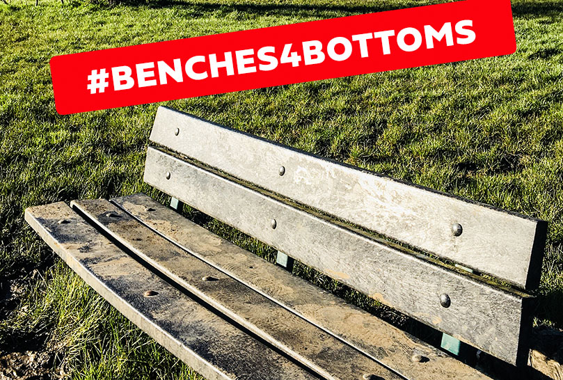 tooting bec common, benches4bottoms