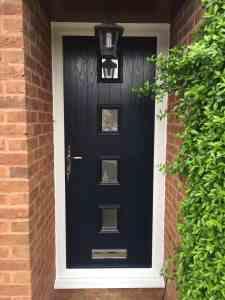 black 4 square composite door