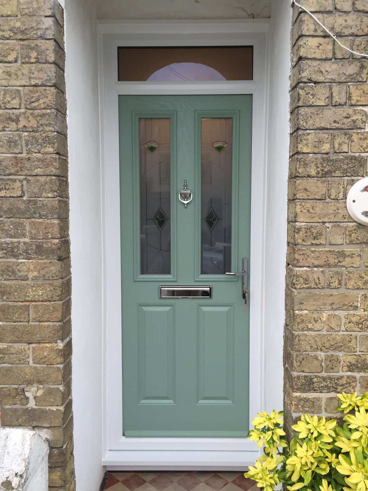 Chartwell Green 2 panel 2 square composite door