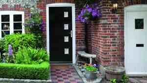 this is a black composite front door in Portsmouth