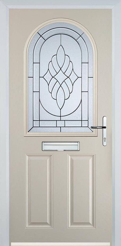 cream composite door with zinc art elegance glass