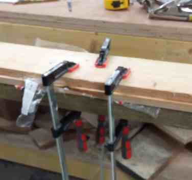 clamped scarf joints
