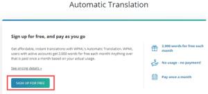 الترجمة التلقائية