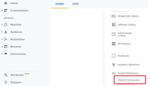 إضافة أبعاد مخصصة جديدة في جوجل