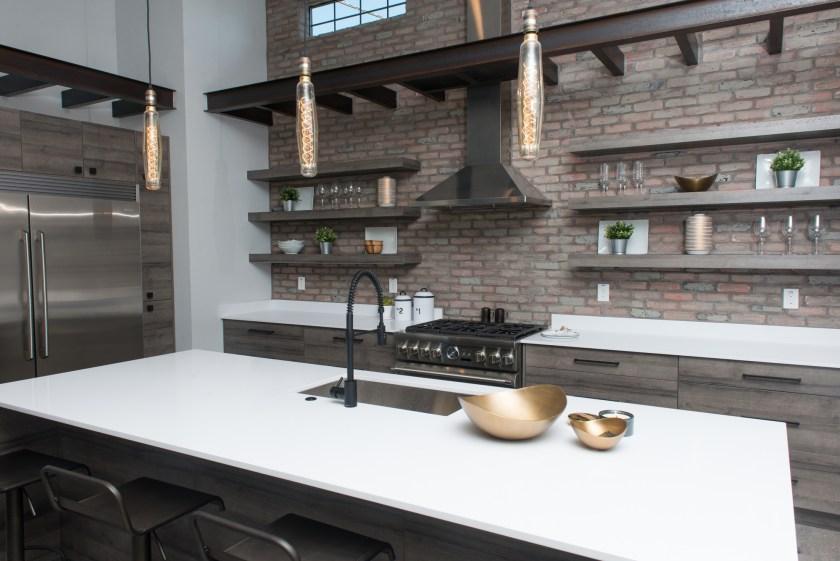 Kitchen Brick Wall - 3rd St New Build
