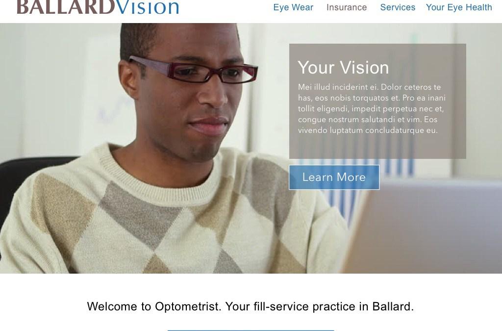 Optometry Web Site