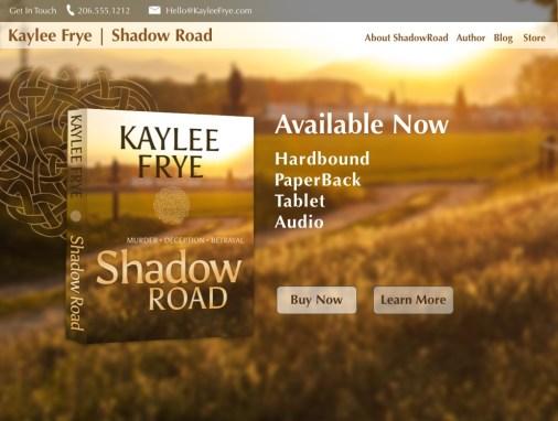 Mystery Author Website