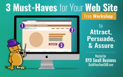 Workshop January 25: 3+ Must Haves for Your Web Site