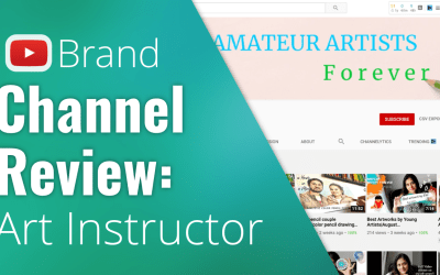 YouTube Brand Channel Review – Art Instructor
