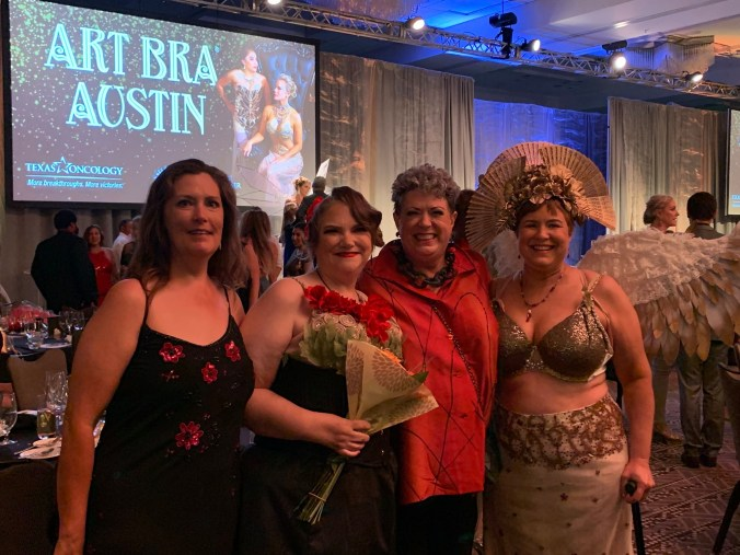 Beth, Cathy, Ann and KIm attending Art Bra Austin 2019