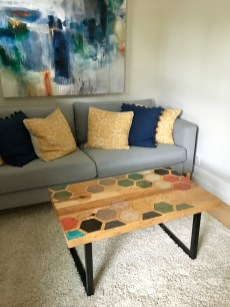 hexagon table installed and delivered
