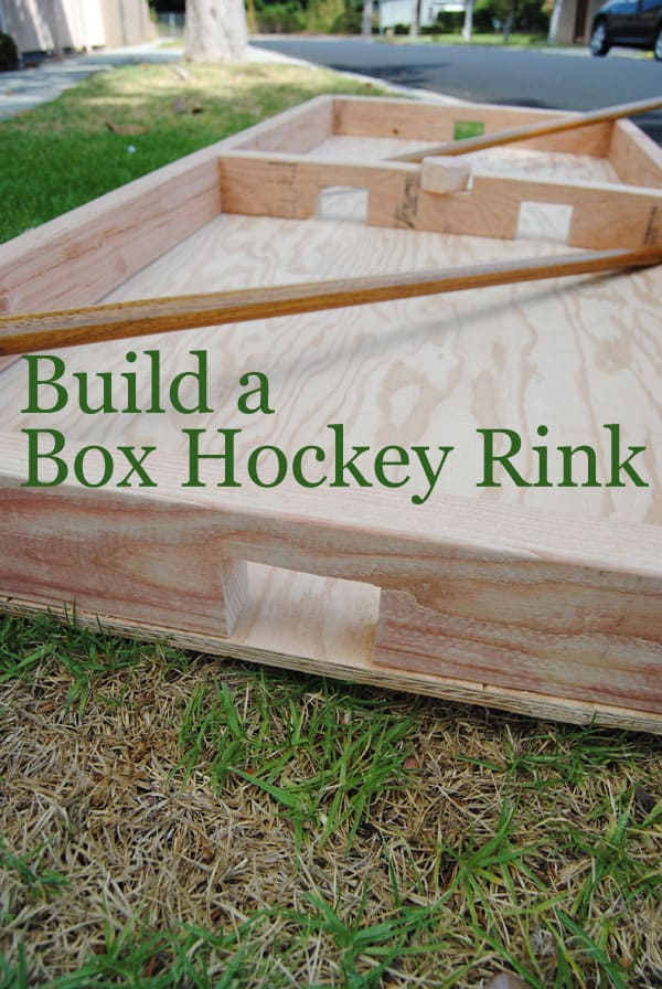 how to build a box hockey rink