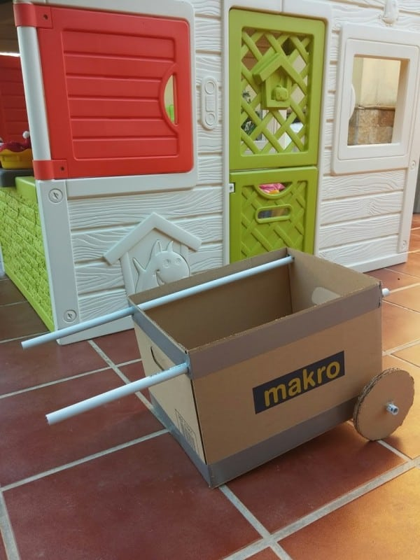 DIY Cardboard Wheelbarrow