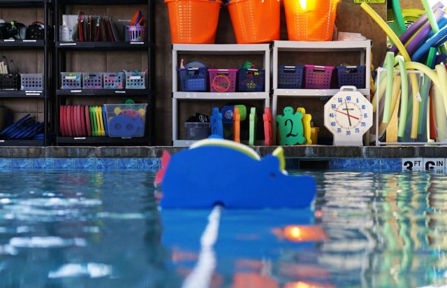 Flow Aquatics pool and toys
