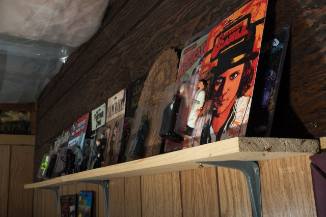 Credenda's shelf of action figures