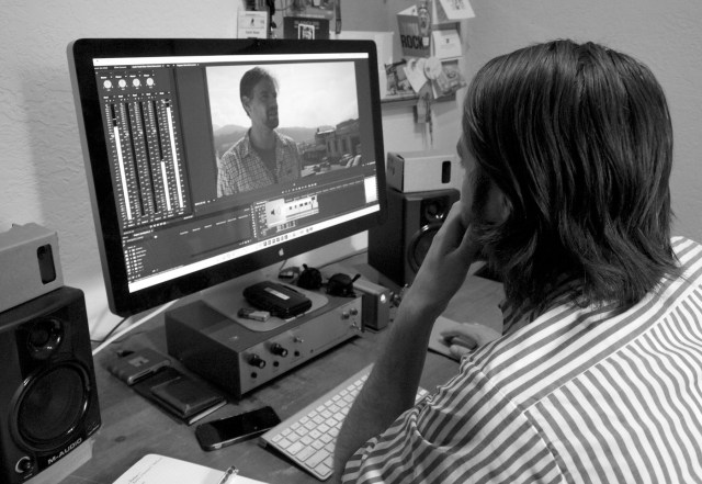 Retroscope Media founder Zach Voss editing