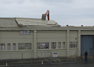 Shaw Savill & Albion wool and grain store, Parry Street, demolished 2011