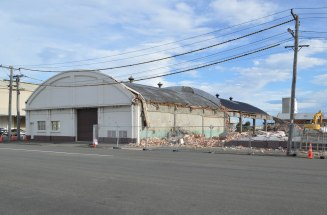 Vacuum Oil Co. stores, Fryatt and Halsey streets, demolished 2016